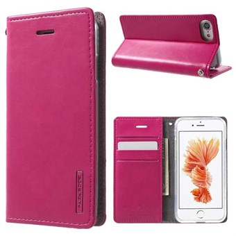 Image of   iphone 7/8 Simple Classic Blue Moon Card Slot Wallet Leather - Magenta / under updatering